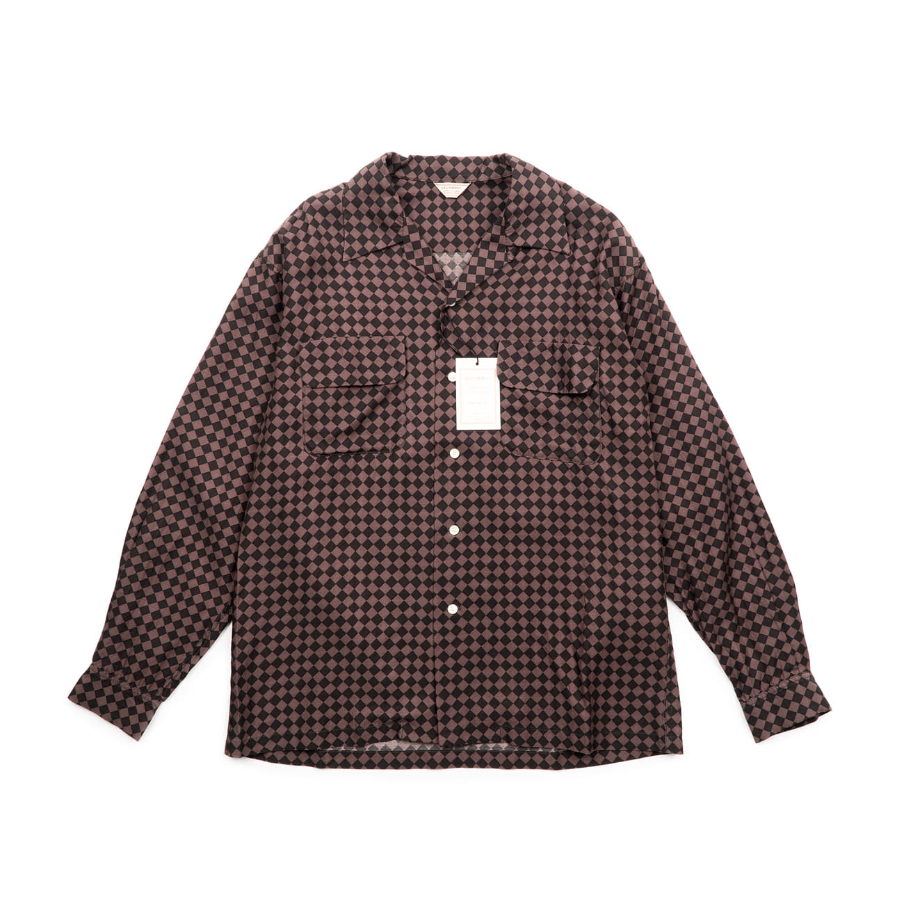 Harlequin Check Open Collar Shirt