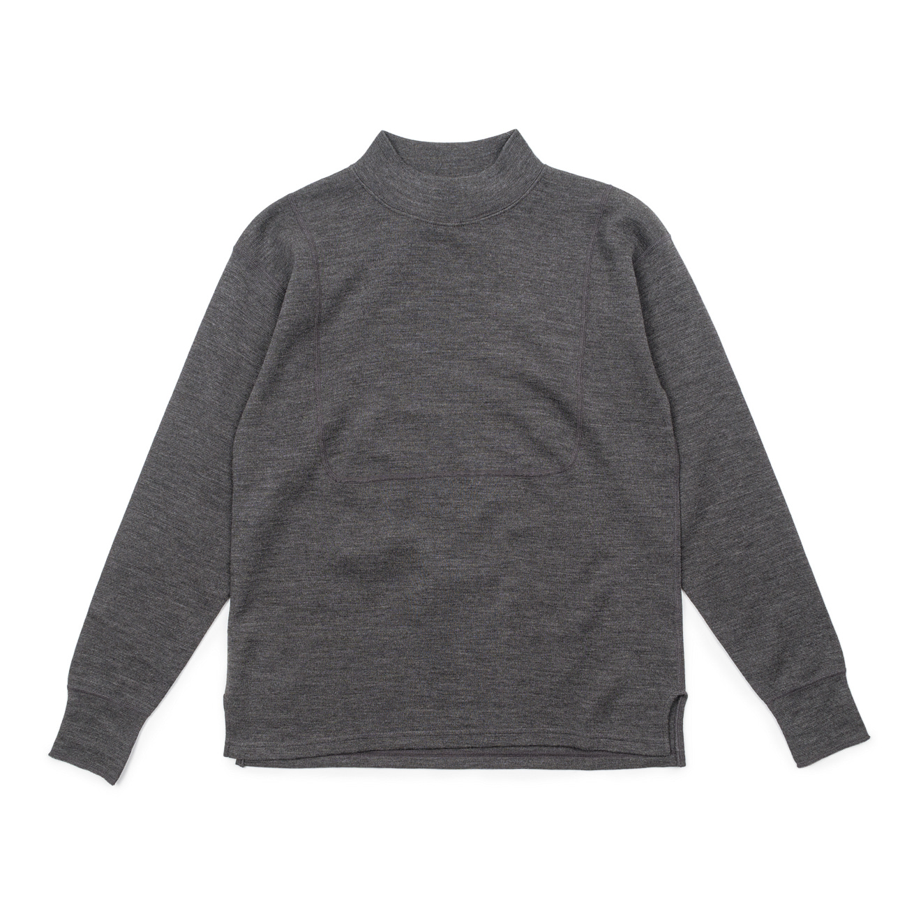 Naval Wool Highneck Top