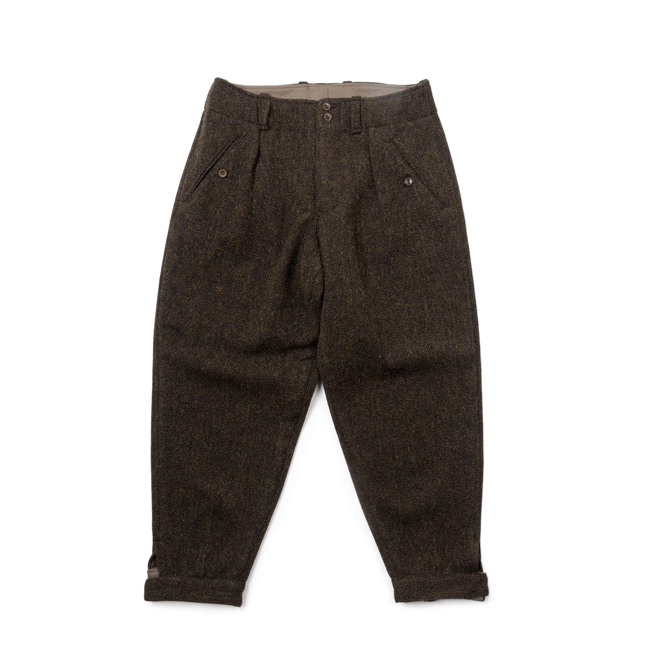 Herringbone Tweed Trousers