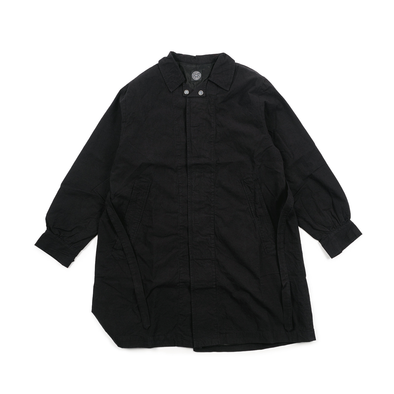 Local Black Gathered Coat