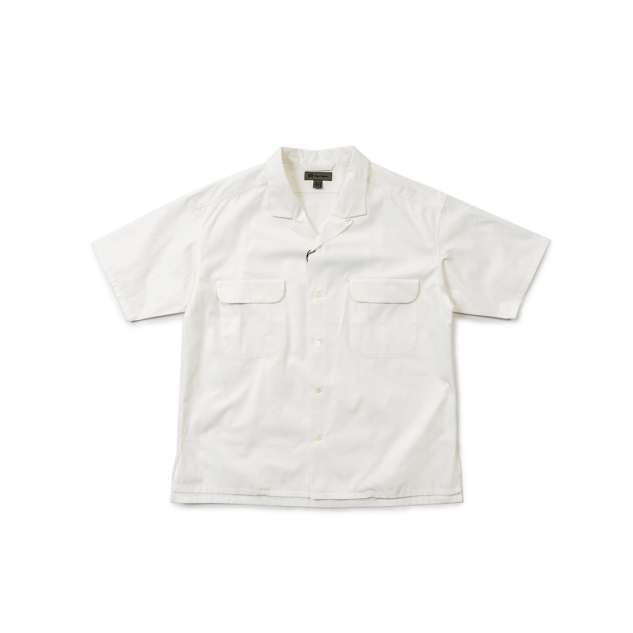 Open Collared Wide Shirt S/S