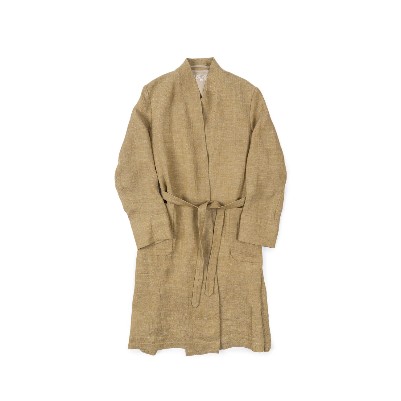Linen Herringbone Robe Coat
