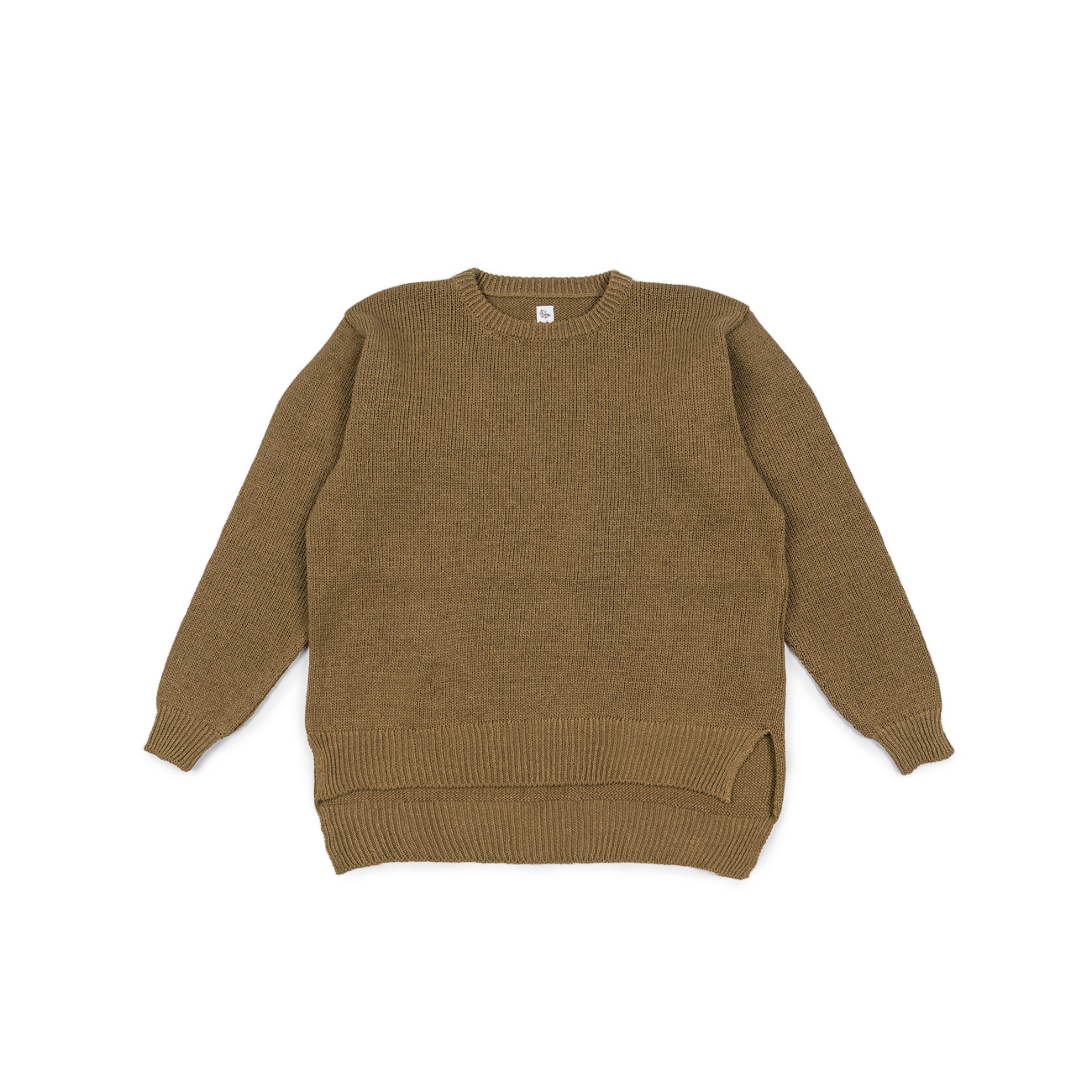 Crewneck Long Sleeved Pullover Knit