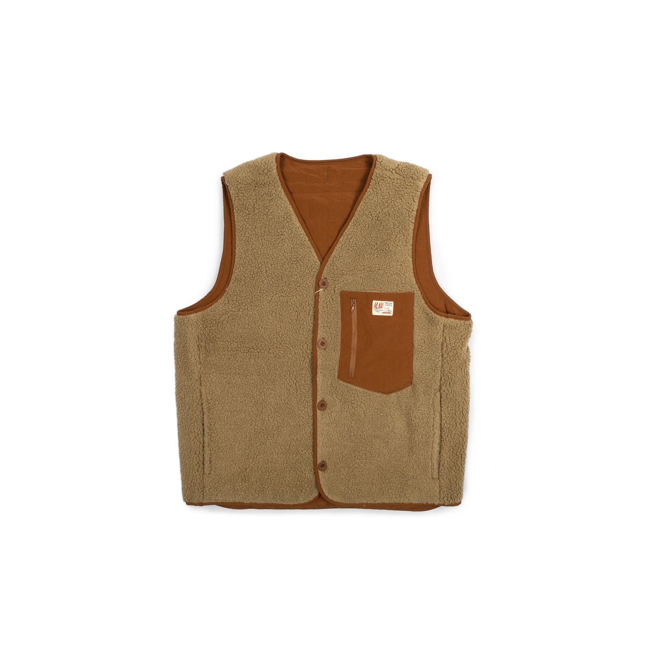 Retro Reversible Padded Vest