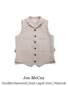 Double Diamond Linen Lapel Vest