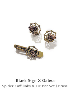 Spider Cuff links & Tie Bar Set