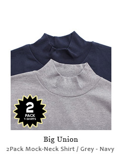 2Pack Mock-Neck Shirt