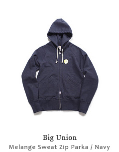 Melange Sweat Zip Parka