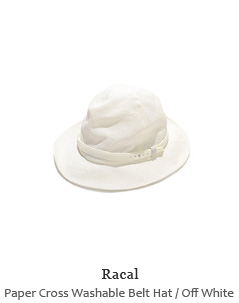 Paper Cross Washable Belt Hat