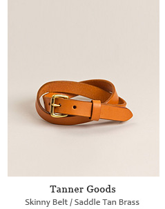 Skinny Belt - Saddle Tan/Brass