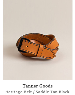 Heritage Belt - Saddle Tan/Black