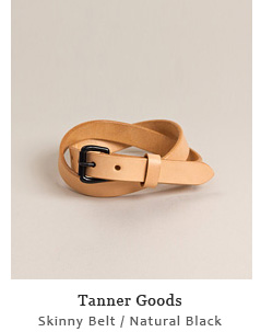Skinny Belt - Natural / Black