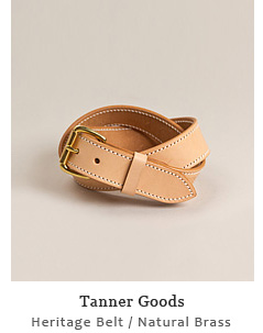 Heritage Belt - Natural / Brass