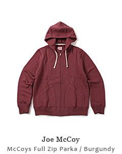 McCoys Full Zip Parka