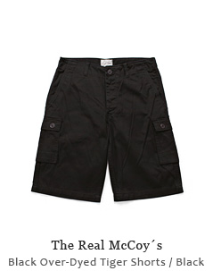 Black Over-Dyed Tiger Shorts
