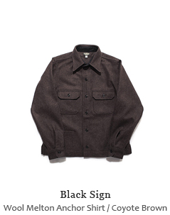 Wool Melton Anchor Shirt