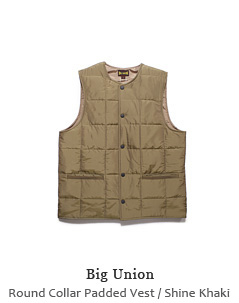 Round Collar Padded Vest