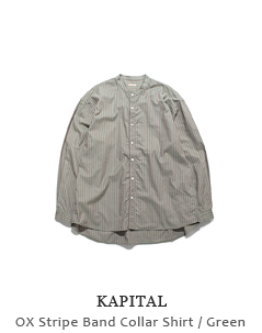 OX Stripe Band Collar Shirt