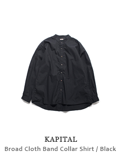 Broad Cloth Band Collar Shirt