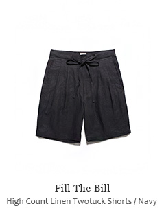 High Count Linen Twotuck Shorts