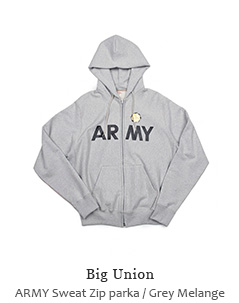 ARMY Sweat Zip parka