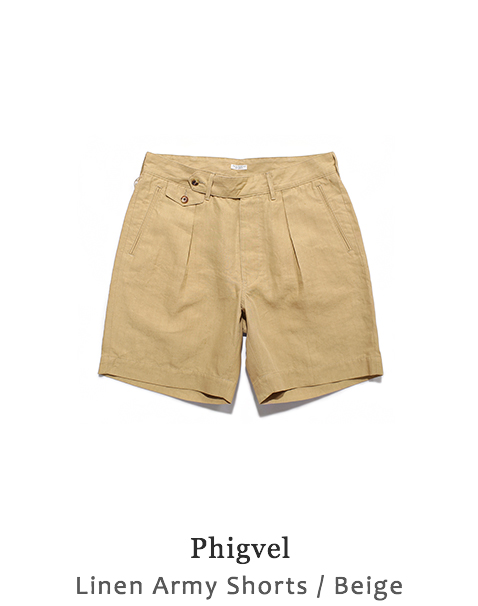 Linen Army Shorts