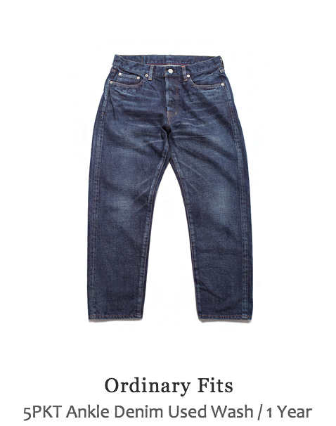 5PKT Ankle Denim Used Wash
