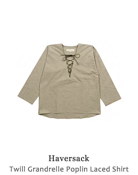 Twill Grandrelle Poplin Laced Shirt
