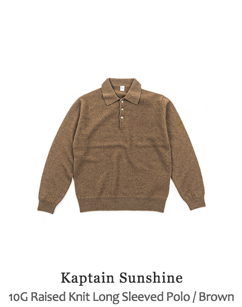 10G Raised Knit Long Sleeved Polo