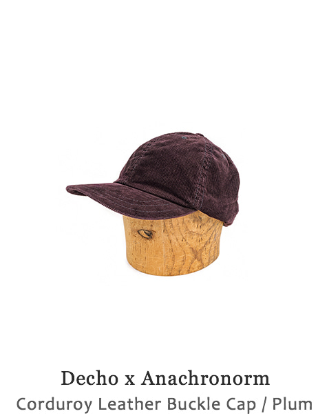 Corduroy Leather Buckle Cap