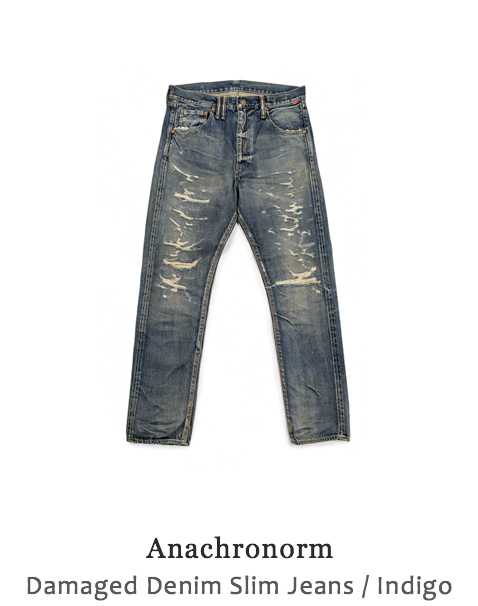 Damaged Denim Slim Jeans