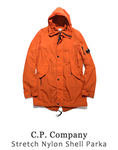 Stretch Nylon Shell Parka